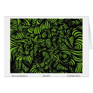 Cartão Redemoinhos do verde