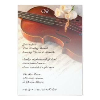 Cartão Refeição matinal clássica do casamento do cargo
