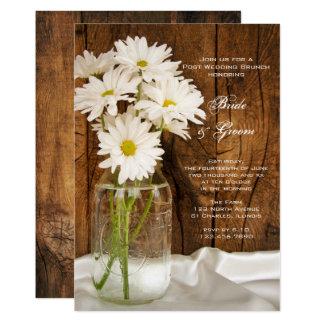 Cartão Refeição matinal do casamento do frasco de
