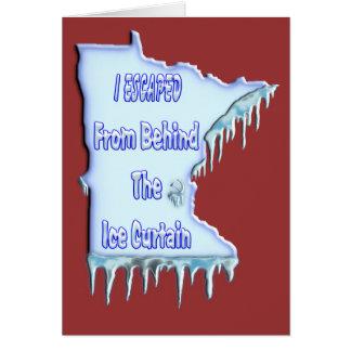 Cartão Refugiado da cortina do gelo