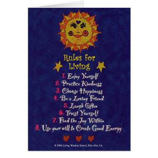 Cartão Regras para viver