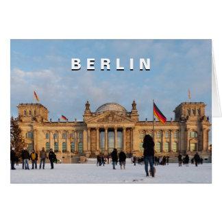 Cartão Reichstag_01.03 nevado (Reichstag im Schnee)