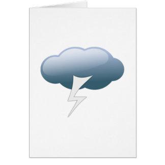 Cartão Relâmpago na nuvem do temporal