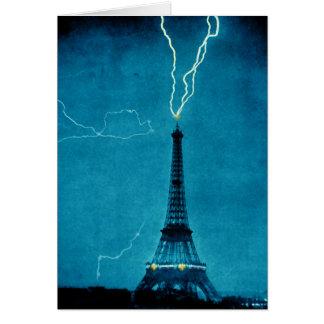 Cartão Relâmpago na torre Eiffel
