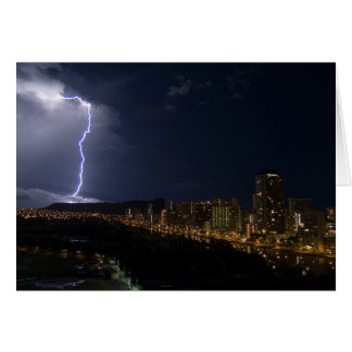 Cartão Relâmpago sobre Waikiki, Honolulu