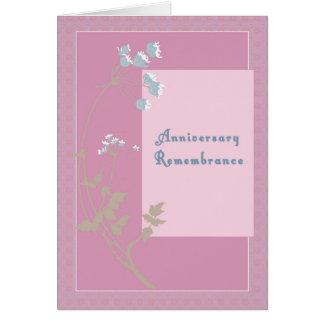 Cartão Relembrança do aniversário para passar da esposa