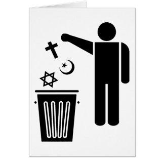 Cartão Religião Wastebin