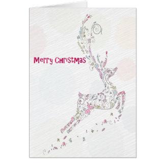 Cartão Rena do feriado