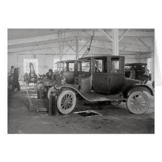 Cartão Reparação de automóveis Garagem, 1926