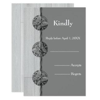 Cartão Resposta do casamento da borboleta