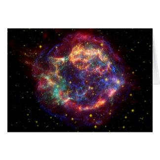 Cartão Resto do Supernova da galáxia do Cassiopeia