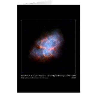 Cartão Resto do Supernova da nebulosa de caranguejo -