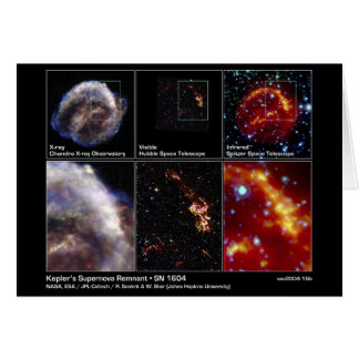 Cartão Resto do Supernova de Kepler - SN 1604 2004 - NASA