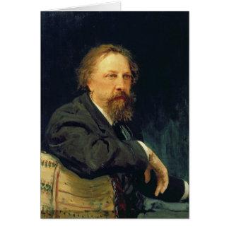 Cartão Retrato da contagem Alexey K. Tolstoy do autor