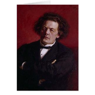 Cartão Retrato de Anton Grigoryevich Rubinstein, 1881