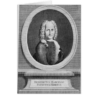 Cartão Retrato de Benedetto Marcello