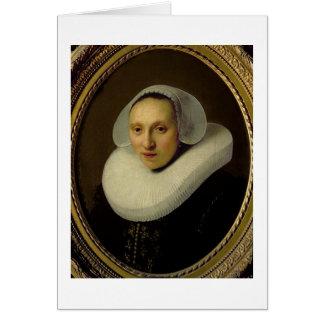 Cartão Retrato de Cornelia Pronck, esposa de Albert