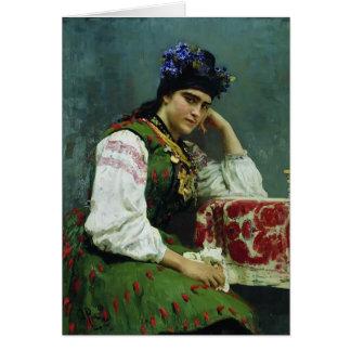 Cartão Retrato de Ilya Repin- de Sophia Dragomirova