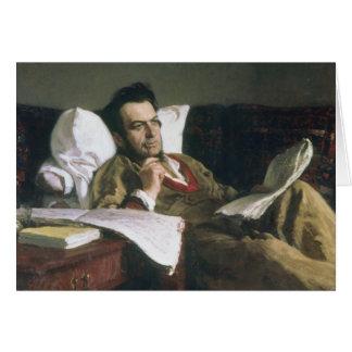 Cartão Retrato de Mikhail Glinka