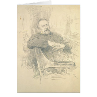 Cartão Retrato de Nikolaj Leskov, 1889