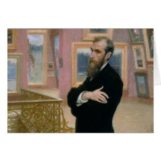 Cartão Retrato de Pavel Tretyakov na galeria