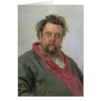 Cartão Retrato de Petrovich modesto Moussorgsky 1881