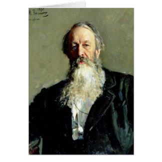 Cartão Retrato de Vladimir Stasov, 1883