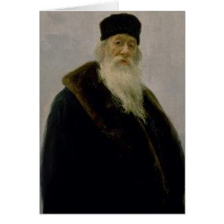 Cartão Retrato de Vladimir Vasil'evich Stasov 1900