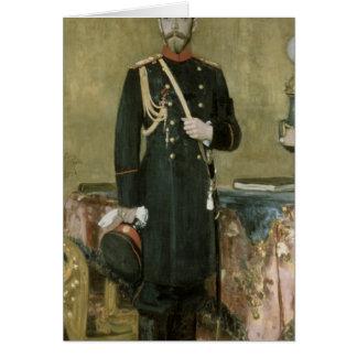 Cartão Retrato do imperador Nicholas II 1895