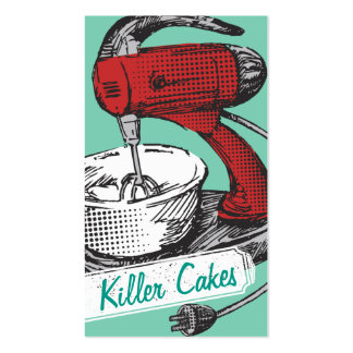 Cartão retro da padaria do cozimento do misturador cartão de visita