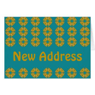Cartão Retro groovy do endereço novo