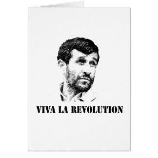 Cartão Revolução do la de Ahmadinejad - de Viva
