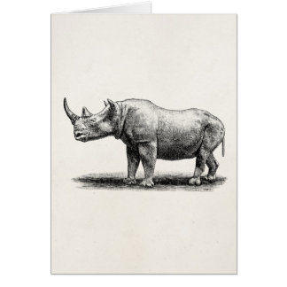 Cartão Rhinos do rinoceronte da ilustração do rinoceronte