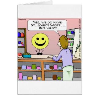 Cartão Rick Londres do Wort de St Johns engraçada