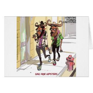 Cartão Rick Londres dos hipsteres da idade do Gnu