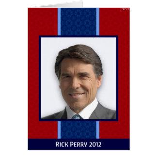 Cartão Rick Perry 2012