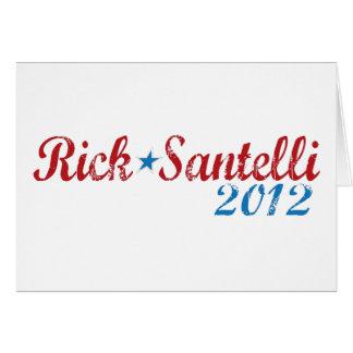 Cartão Rick Santelli 2012