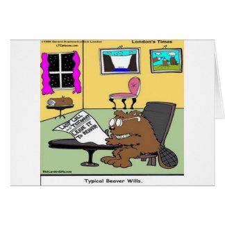 Cartão Rick vivo Londres das vontades do castor engraçada