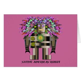Cartão Robô do nativo americano