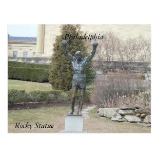 Cartão rochoso da estátua de Philadelphfia