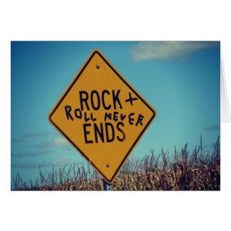 Cartão Rock and roll e feliz aniversario