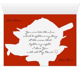 Cartão romântico de RomanceMe