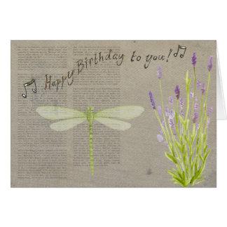 Cartão romântico do feliz aniversario