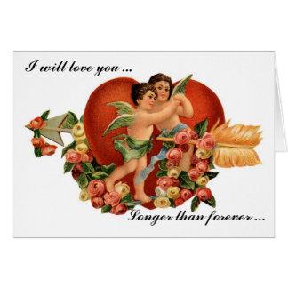 Cartão romântico dos namorados