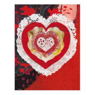 Cartão romântico dos namorados do coração cartão postal