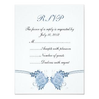 Cartão romântico dos rosas RSVP Convite 10.79 X 13.97cm