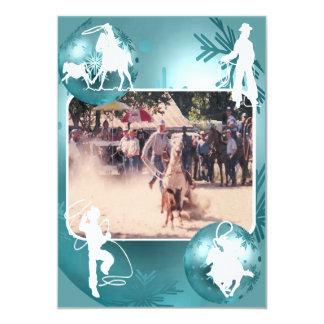 Cartão Roping 2 do feriado da vaqueira ocidental