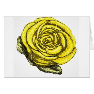 Cartão Rosa amarelo da amizade