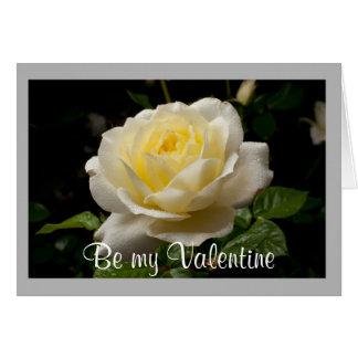 Cartão Rosa branco dos namorados 35