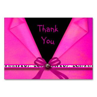 Cartão Rosa quente do impressão animal & doce dobrado